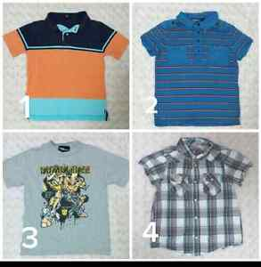 6 to 7 year old boy's t-shirts  button up top
