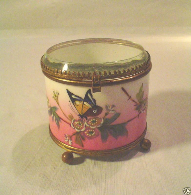 Moser Enameled Porcelain Dresser / Trinket Box, c.1880
