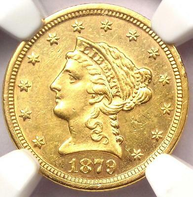 1879 S LIBERTY GOLD QUARTER EAGLE $2.50   NGC UNCIRCULATED MS UNC    DATE!