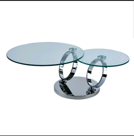 Magic Rings Chrome Motion Coffee Table