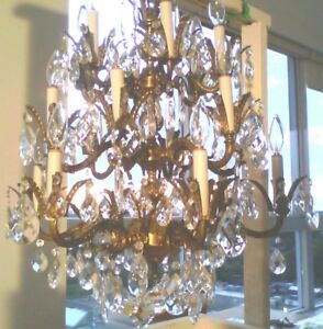 Unreal Vintage Crystal Chandelier