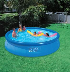 Intex 15' X 36' above ground pool with accesories
