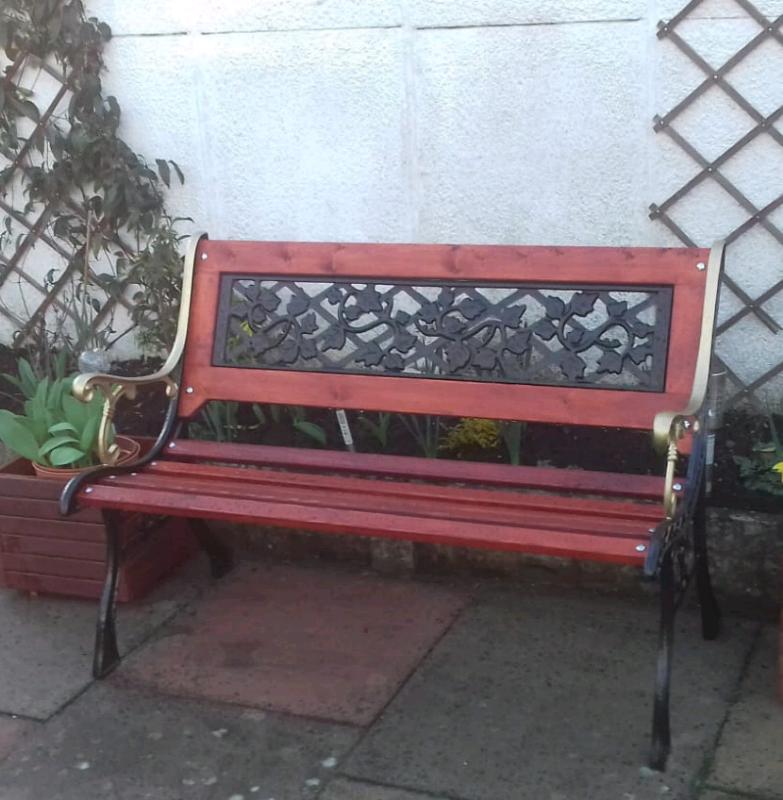 (Sold) Wrought Iron Garden Bench   In Worsley, Manchester   Gumtree