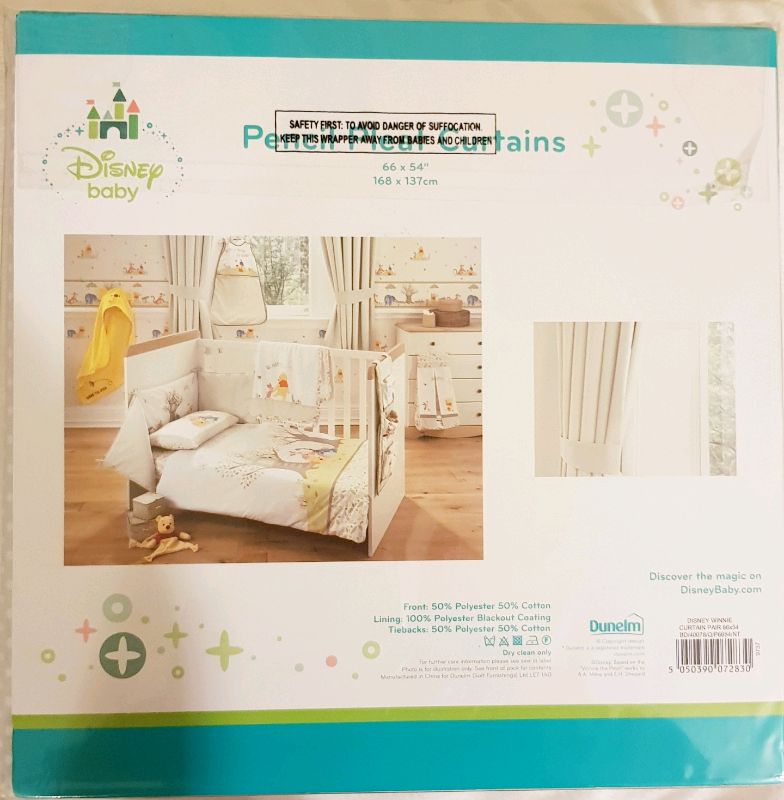 fcec24bc281e New Disney Baby/Dunelm Pencil Pleat Curtains RRP £45 | in Barking ...