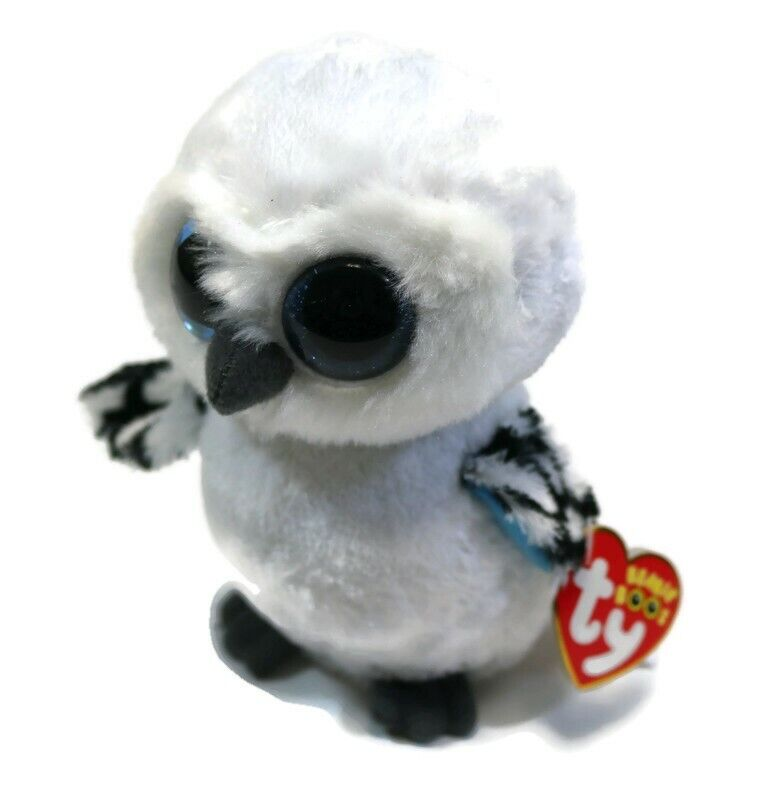 "SPELLS the White Owl RED Tag Ty 6/"" RETIRED  Beanie Boos NEW with MINT TAGS"