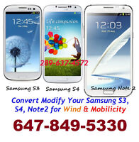 USE WIND MOBILICITY Samsung Galaxy S4, Note 2 Note3, S2 S3 S5 S6