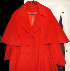 Brand new, custom made, plus sized ladies wool winter coat