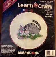 Vintage Needle Point Cat and Mouse Kit