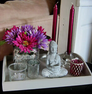 Two Decorative trays with accessories