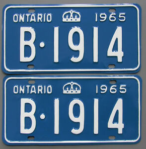 Vintage YOM License Plates - MTO Approval Guaranteed London Ontario image 8