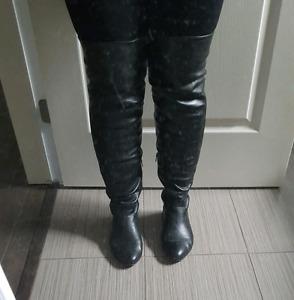 Bottes cuir pour femme