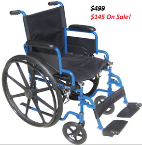 Wheelchair New - Easy to Fold - Great Outdoors and Indoors