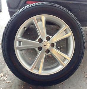 4 mags toyota/Lexus + pneus d'été 235-55-18