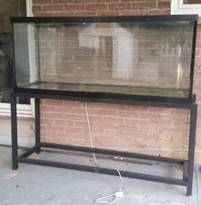 120 Gallons fish tank  and metal stand