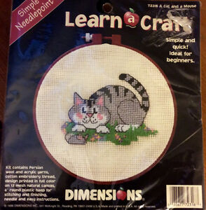 Needle Point Cat and Mouse Kit