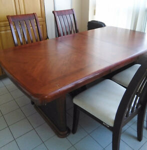 5 Piece Solid Wood Dining Table Set with Chairs