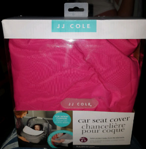 JJ COLE Bright Pink Infant car seat cover. NEW
