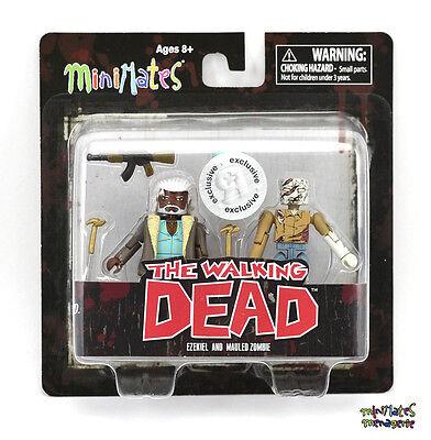 Walking Dead Minimates Tru Spielsachen R Us Welle 7 Ezekiel & Demolierte Zombie (Walking Dead Sachen)
