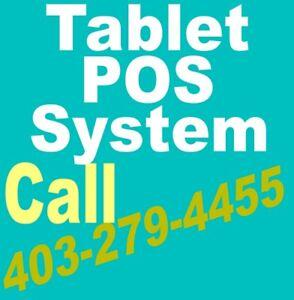 POS Tablet System Point of Sale ◆◆NO Monthly Fees◆◆ 403-279-4455