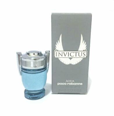 Invictus Aqua Men Paco Rabanne Eau de Toilette Mini Splash 0.17 oz - New in Box