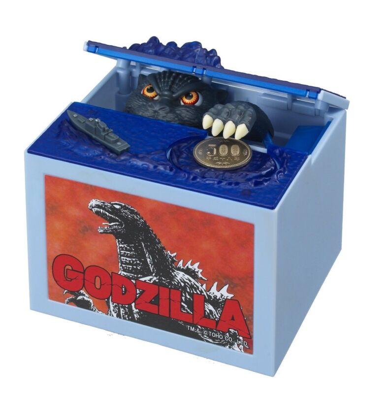 Godzilla Monster Musical Moving Stealing Coin Money Bank Box HALLOWEEN Gift