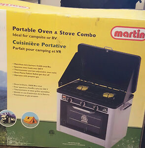 Propane stove and oven combination.