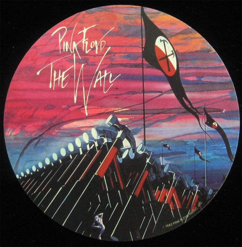 Pink Floyd The Wall _RARE 1982 Promo Sticker Roger Waters Gerald Scarfe Movie lp