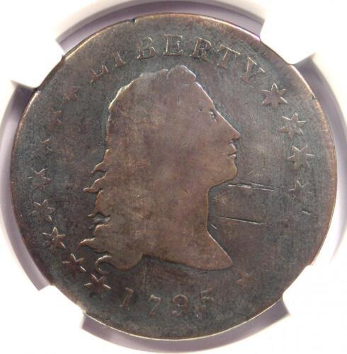 1795 Flowing Hair Silver Dollar ($1 Coin) - NGC Good Detail - Rare Coin!