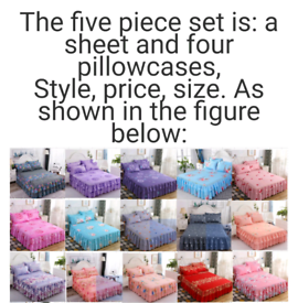 Floral lace fitted sheet cover, Graceful Bed bedspread lace fitted she