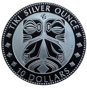 Monnaie 2012 F15 Cook Islands Tiki Argent Fin 1 OZ