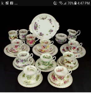 WANTED Royal Albert Flower of the Month China Dishes