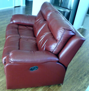 Burgandy Leather Recliner.