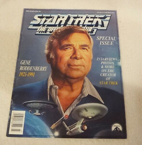 Star Trek Official Fan Club Mag. Special Issue Gene Roddenberry