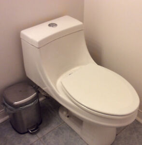 Toilet, dual flush, elongated seat, one pcs easy to clean