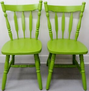 COLOUR of the YEAR Arrow Back Chairs MODERN Vintage Antique