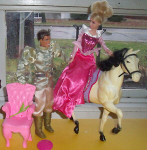 Princess Barbie, Prince charming, white Horse ++++ West Island Greater Montréal image 1