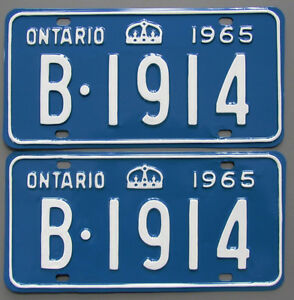 Vintage YOM License Plates For Your Classic - MTO Guaranteed! Cornwall Ontario image 8