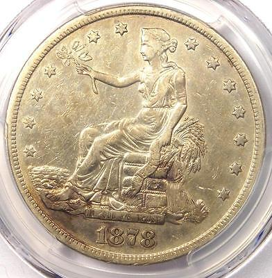 1878-S Trade Silver Dollar T$1 - PCGS XF Details (EF) - Rare Certified Coin!