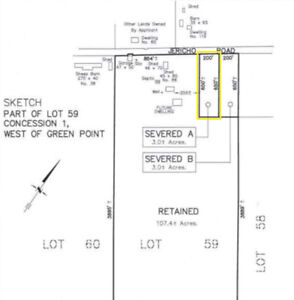 Great 3 acre building lot in Prince Edward County