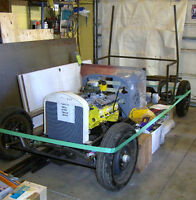 T Bucket, C-cab rolling chassis with drivetrain + many parts