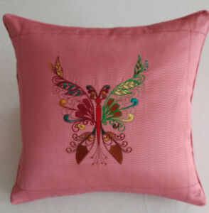 Handmade embroidered pillow