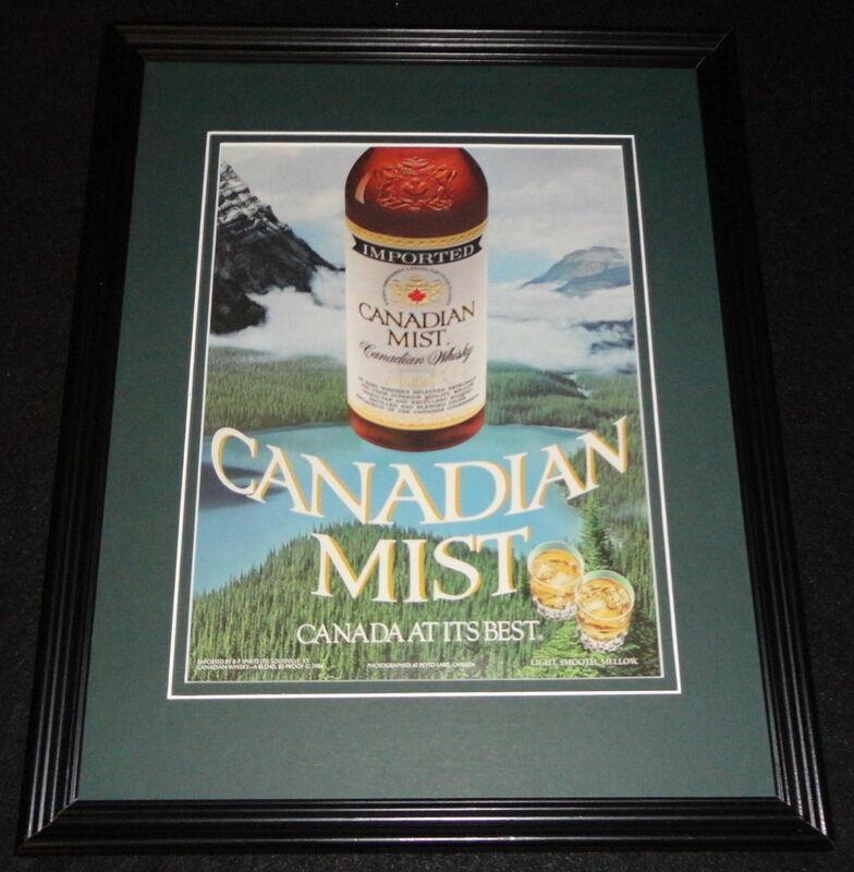 1986 Canadian Mist Whisky Framed 11x14 ORIGINAL Advertisement