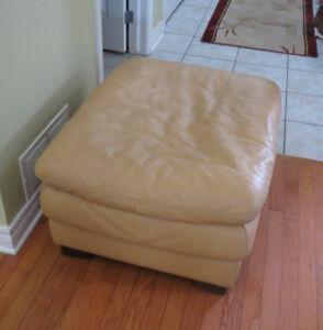 Leather Footstool - large