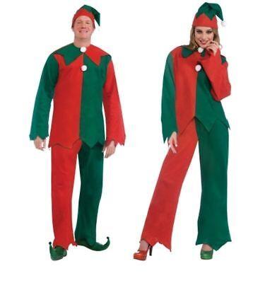 Toy Shop Shelf Elf Costume Santa's Helper Christmas Hat Men Women Standard Xmas