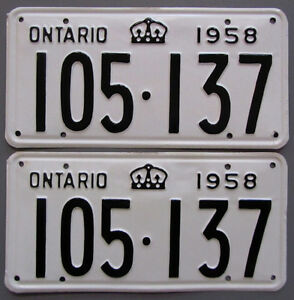 Vintage YOM License Plates - MTO Approval Guaranteed London Ontario image 6