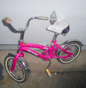 "Girls' 14"" tire bike with rear brake, very good condition"