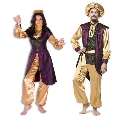 1001 Nacht Kleid Kostüm Herren Bollywood Orient Alibaba Ali Baba Prinz Kalif Hut ()