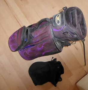 4 Golf bags $ 5 - $ 15, golf umbrella $ 5, set of golf clubs $20 Kitchener / Waterloo Kitchener Area image 1