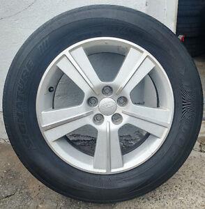 4 mags oem Subaru pneus d'ete /tires 225-60-16 .  Bolt Pattern :