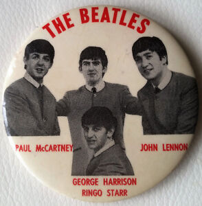 Original 1960'S THE BEATLES PIN ...excellent condition